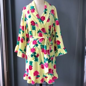 NWOT Betsey Johnson Yellow Floral Robe!